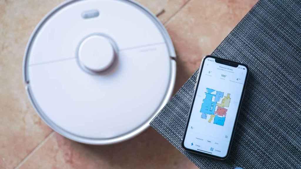 Roborock S5 Max con el mapa en la aplicación oficial