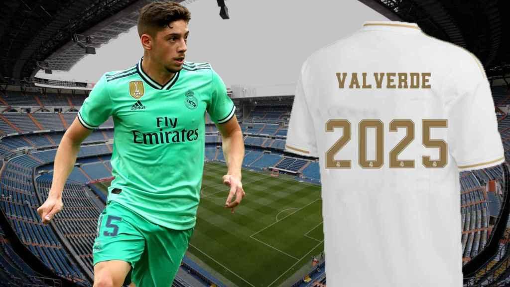 Fede Valverde, con la camiseta del Real Madrid