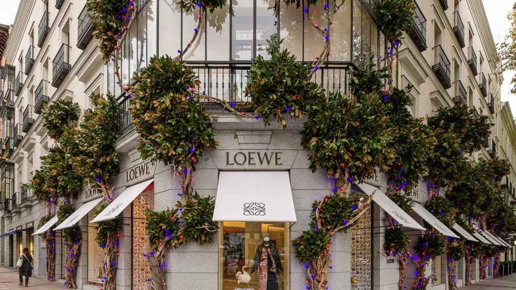 El escaparate de Serrano de la marca Loewe.