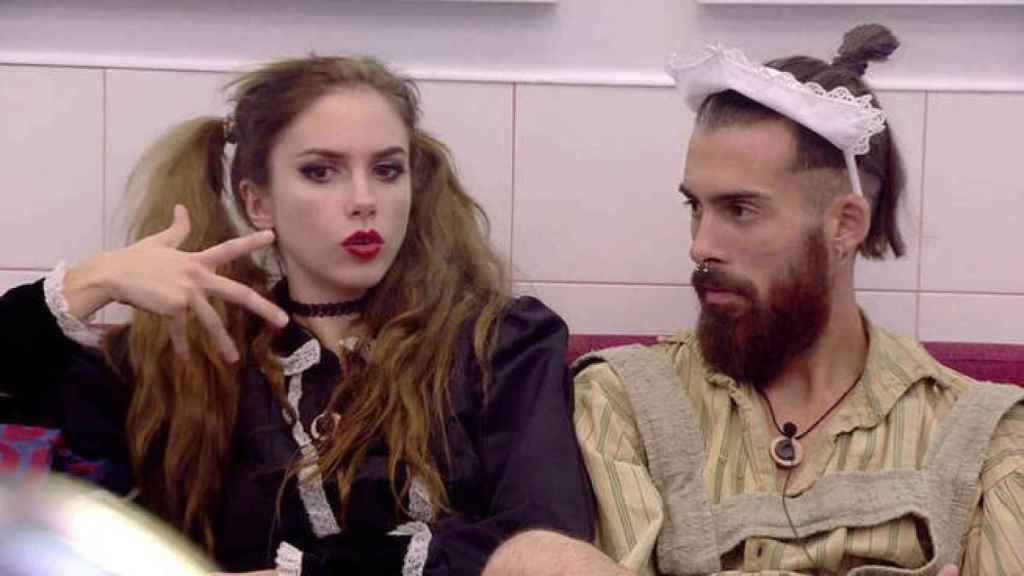 Carlota Prado y José María en un momento de su concurso en el 'Revolution'.