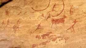 Pintura que representa una escena de cacería.