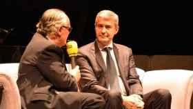 Antonio Monje y Álvaro Gutiérrez, anoche en la entrega de los premios de la Ser en Talavera