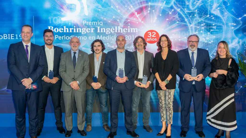 Los galardonados con el Premio Boehringer Ingelheim al Periodismo en Medicina