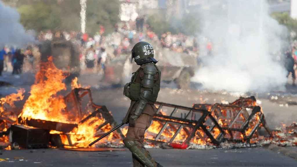 Las protestas en Chile.