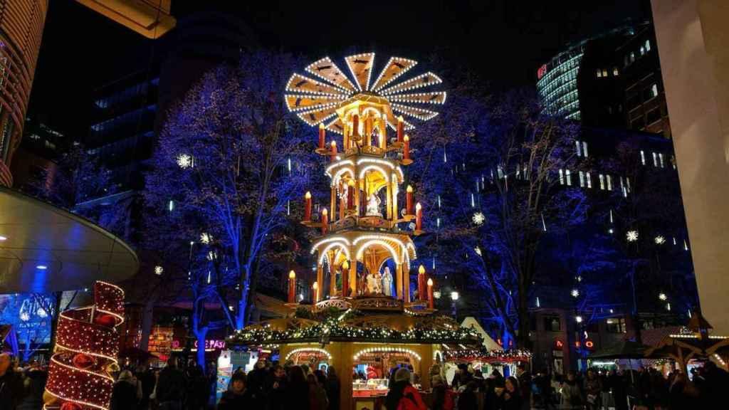 Mercadillo navideño en Berlín.