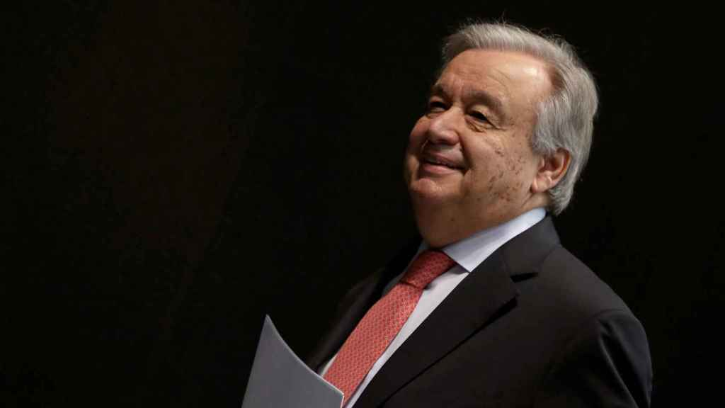 El Secretario general de Naciones Unidas, el portugués Antonio Guterres,