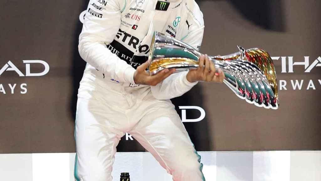 Hamilton, tras ganar en Abu Dabi