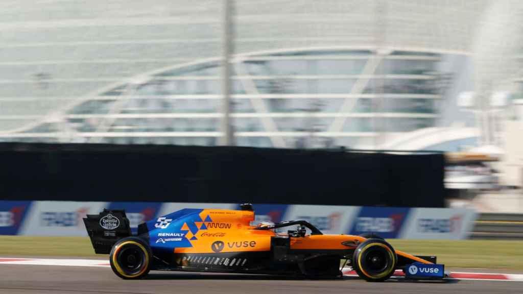 Carlos Sainz, durante el Gran Premio de Abu Dhabi