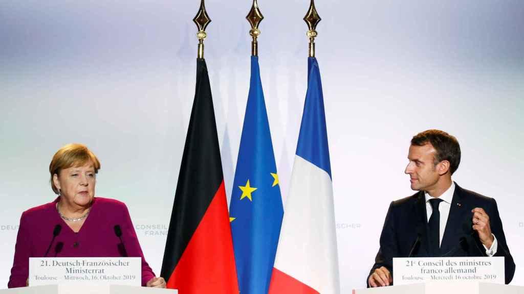 Angela Merkel y Emmanuel Macron se han peleado públicamente sobre el papel de la OTAN