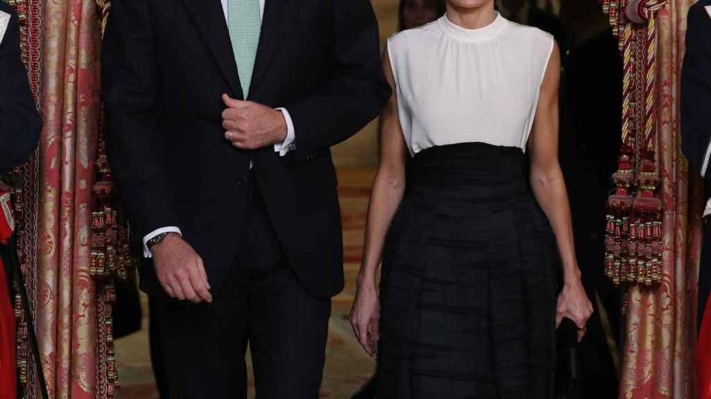 Los Reyes durante su recepción en Madrid con motivo de la Cumbre Climática.