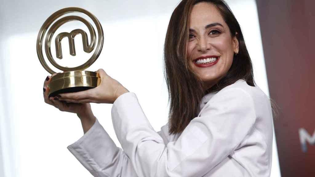Tamara Falcó tras alzarse con el premio de 'MasterChef Celebrity'.