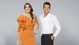 Paz Padilla junto a Jesús Vázquez en la imagen promocional de Mediaset.