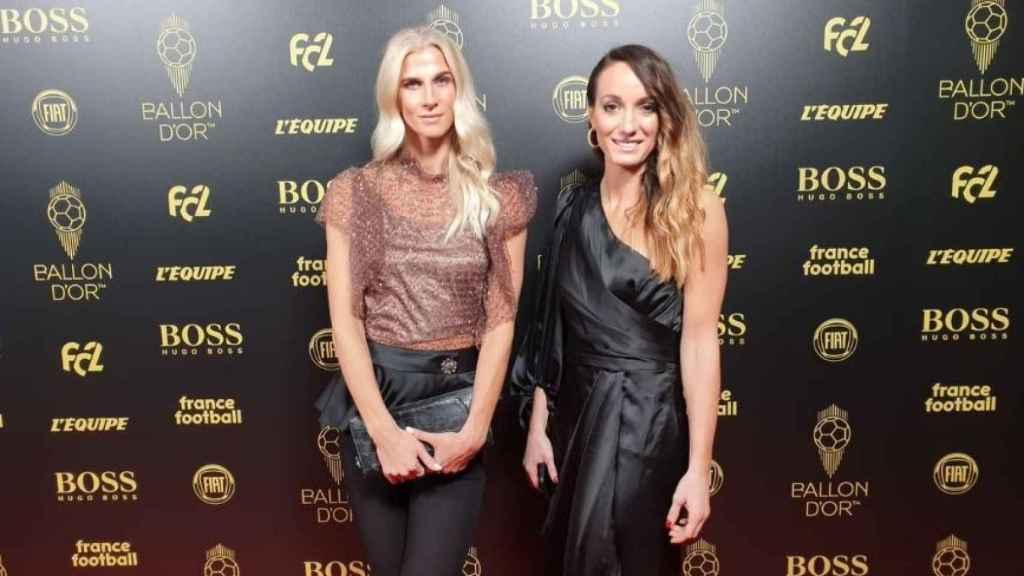 Jakobsson y Asllani en la gala del Balón de Oro 2019