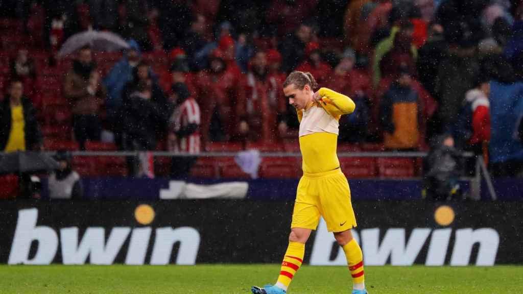Griezmann en su regreso al Wanda Metropolitano
