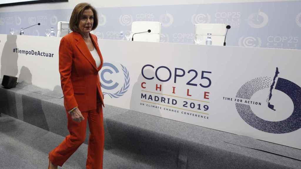 Nancy Pelosi en la COP25 de Madrid