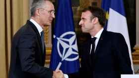 Emmanuel Macron y Jens Stoltenberg, durante su última reunión en París