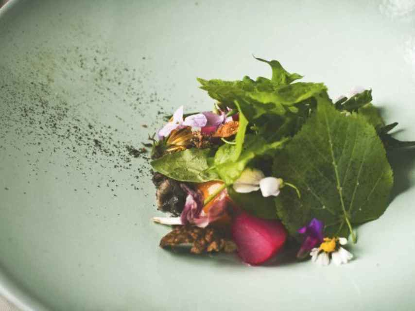 Uno de los bellos platos de Ana Ros para su restaurante Hisa Franko.