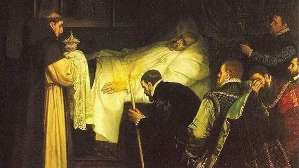 Muerte del emperador Carlos V.