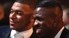 Mbappé y Vinicius, en la gala del Balón de Oro 2019