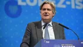 López-Istúriz, durante el congreso del PPE en Zagreb en el que fue  reelegido secretario general