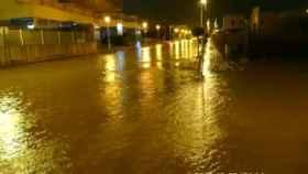 Calles inundadas en San Javier, Murcia. (Twitter)