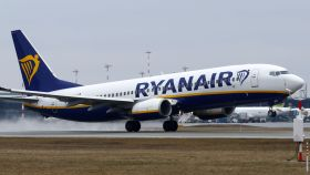 Un avión de la aerolínea irlandesa Ryanair.
