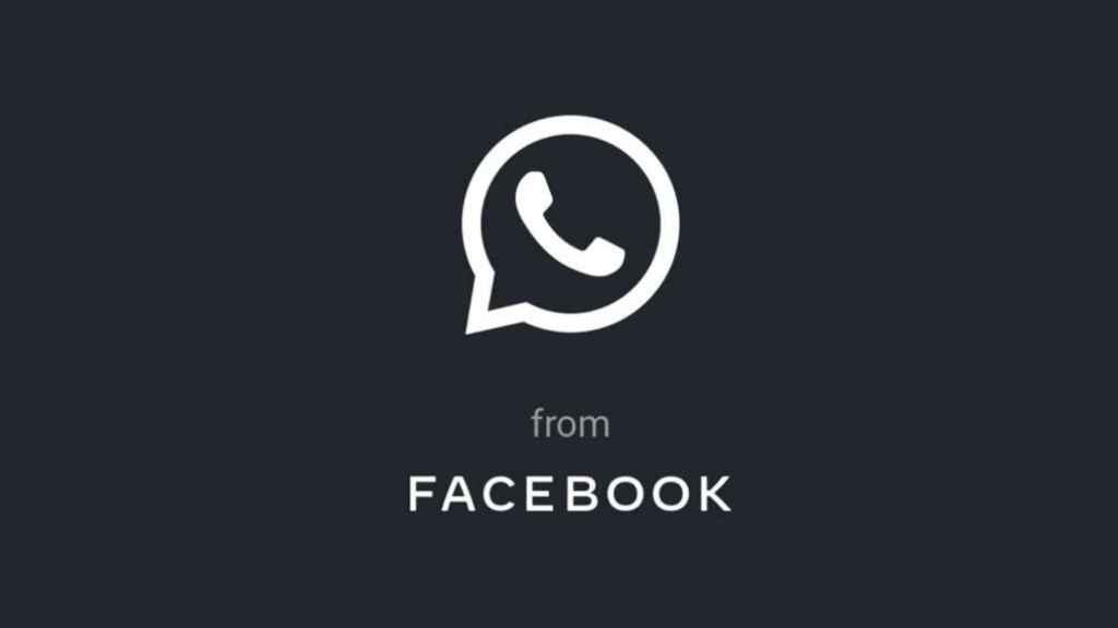 WhatsApp in black.