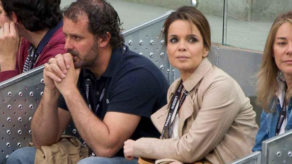 Carme Chaparro y su pareja, en un evento deportivo.