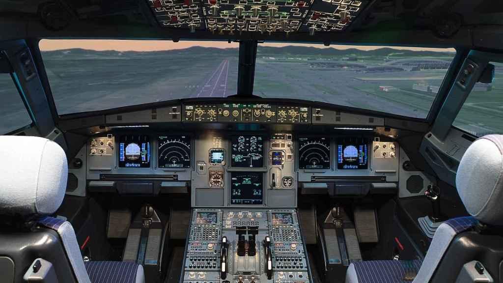 Simulador de vuelo.