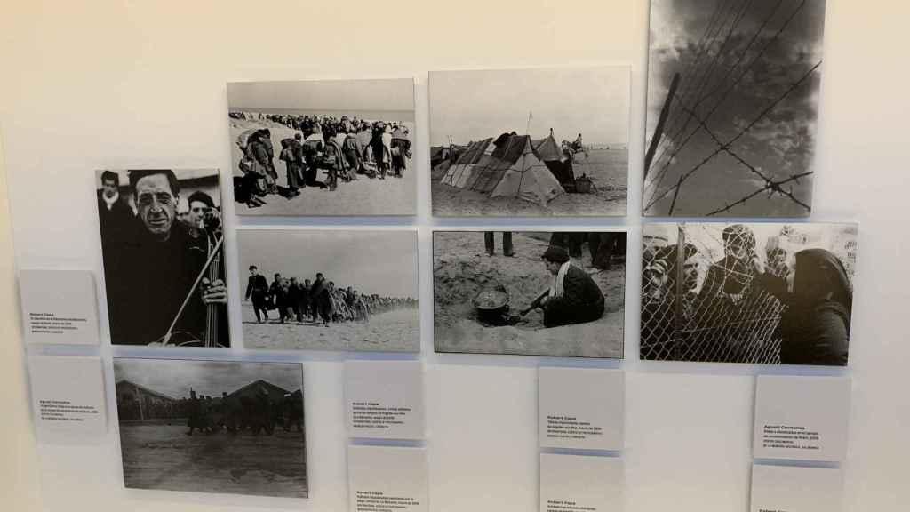 Fotografías de la Retirada tomadas por Robert Capa y Agustí Centelles.