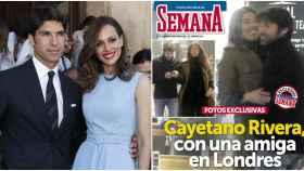 Cayetano Rivera junto a su mujer, Eva González y en la portada de la revista junto a su amiga.