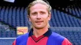 Emmanuel Petit, en su etapa en el FC Barcelona