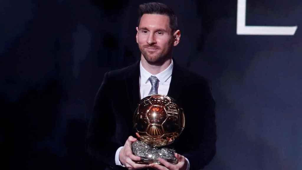 Leo Messi, con el Balón de Oro 2019