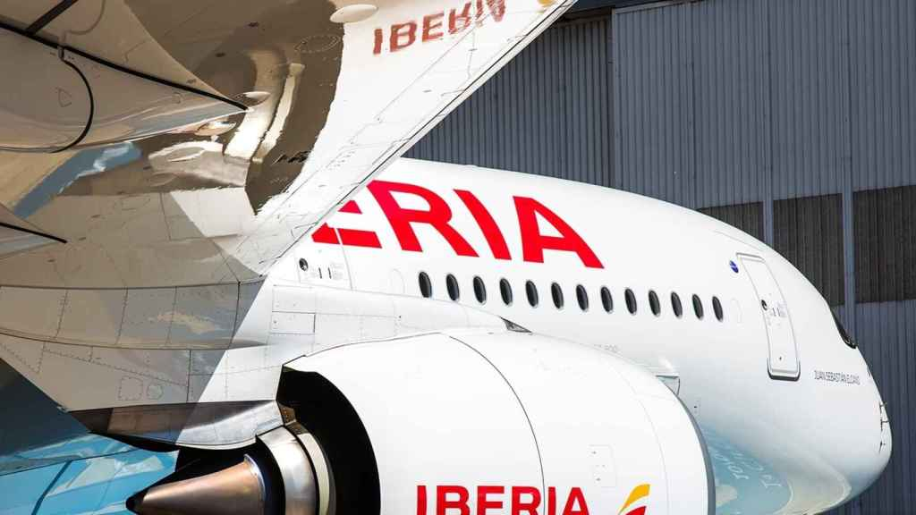 Un avión de la compañía aérea Iberia.