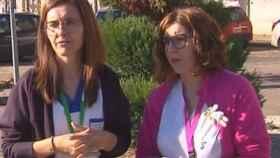 Vanesa y Mercedes, las enfermeras que viajaron desde Galicia hasta Madrid.