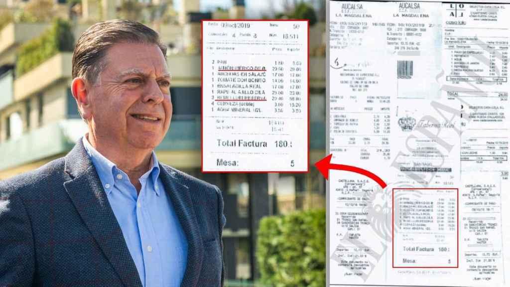 Una de las facturas del regidor municipal en su viaje a Madrid.