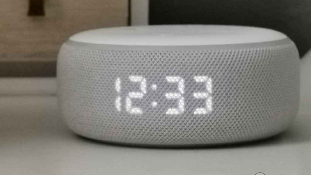 Así es el Amazon Echo Dot.