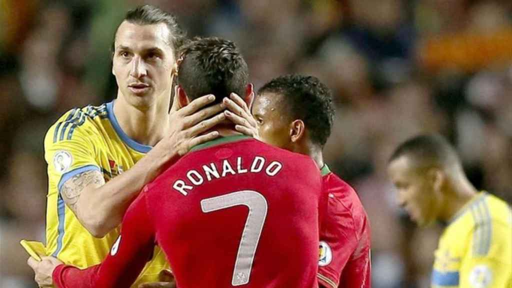 Zlatan Ibrahimovic y Cristiano Ronaldo