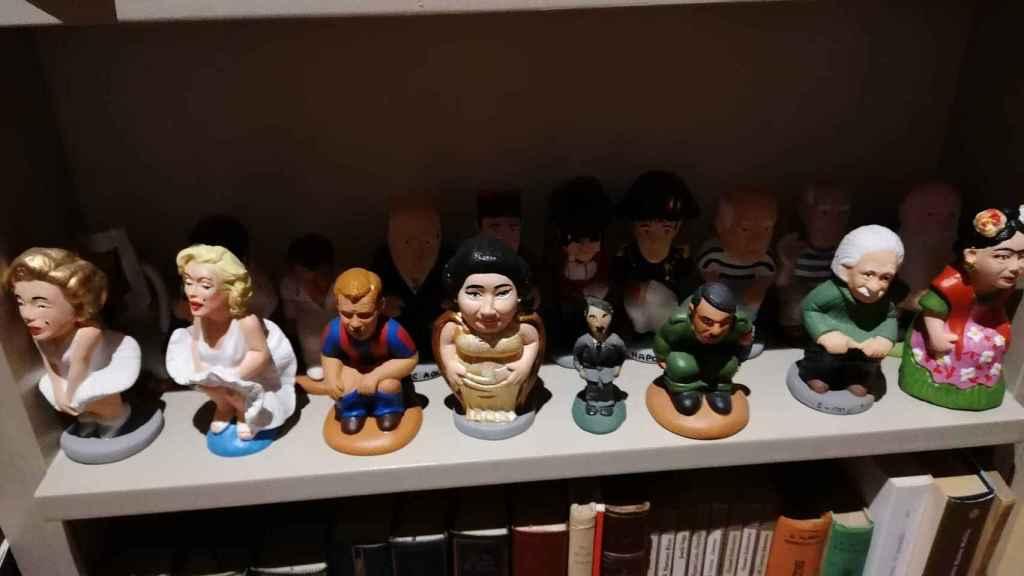 Detalle de los 'caganers' de personajes ilustres pertenecientes a la colección.