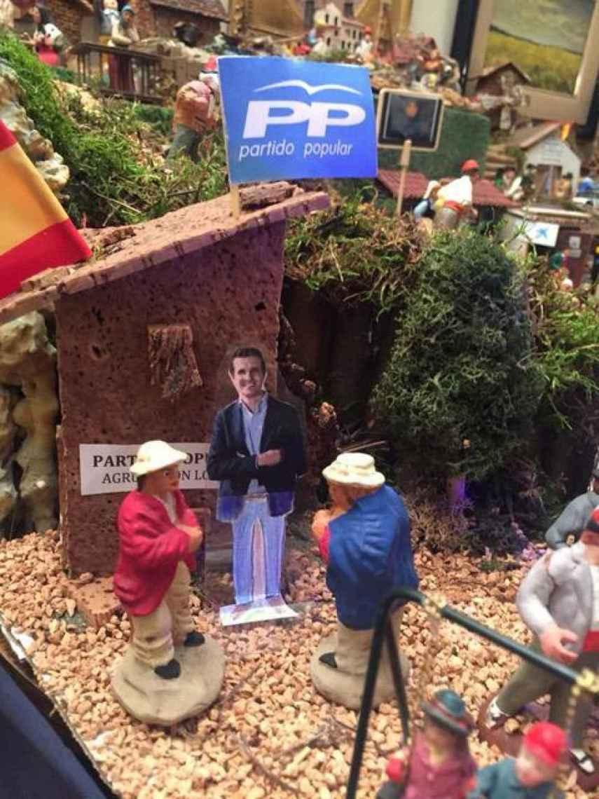 Detalle de la 'Agrupación de Belén' del Partido Popular.