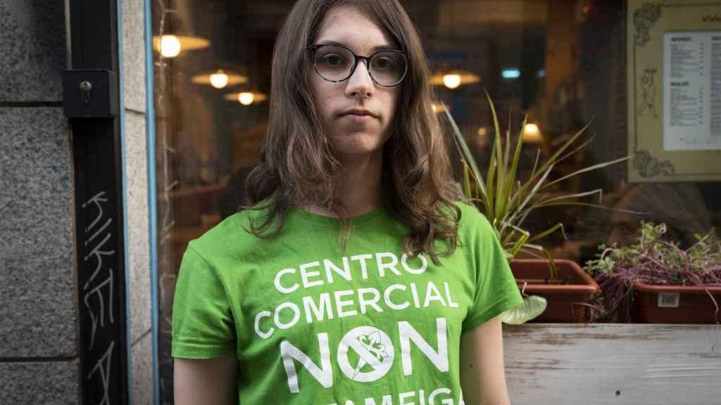 Aura Leirós, integrante de Fridays for Future Vigo, este diciembre en Madrid.
