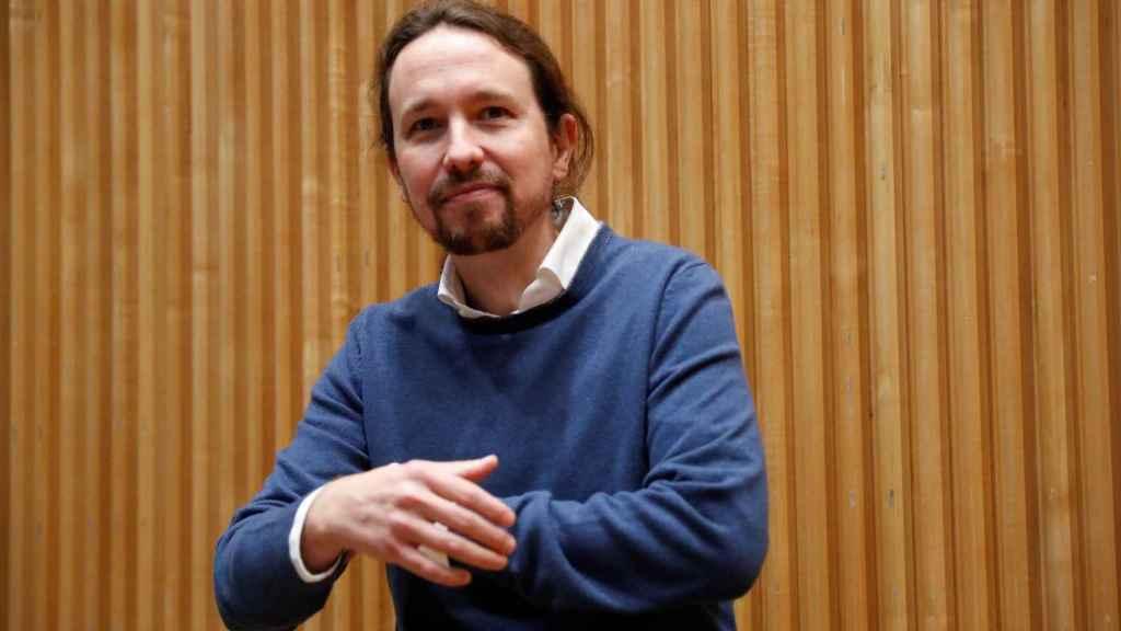 El secretario general de Unidas Podemos, Pablo Iglesias, este jueves en la presentación de un libro en el Congreso.