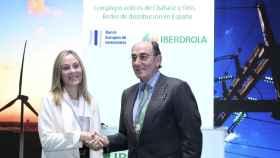 El presidente de Iberdrola, Ignacio Galán, y la vicepresidenta del BEI, Emma Navarro.