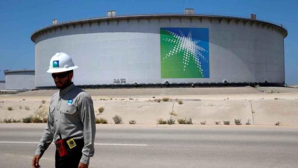 Un depósito petrolífero de Aramco.