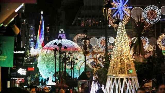El alumbrado de Navidad de Vigo.