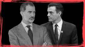 Felipe VI y el presidente del Gobierno en funciones, Pedro Sánchez