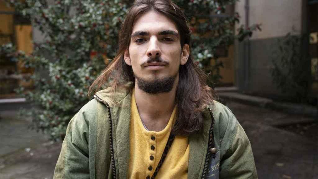 Javier de la Casa, miembro de Extincion Rebellion, este diciembre en Madrid.