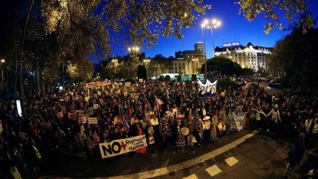 Un momento de la gran Marcha por el Clima convocada por distintas organizaciones.