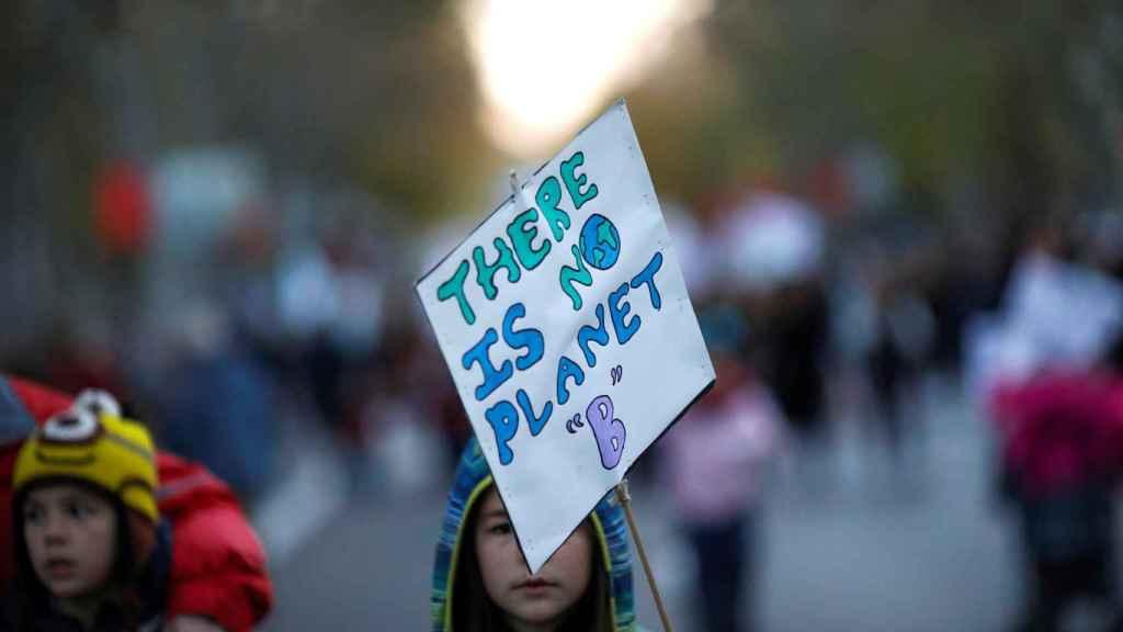 Una foto de archivo de una manifestación por el clima en Madrid.