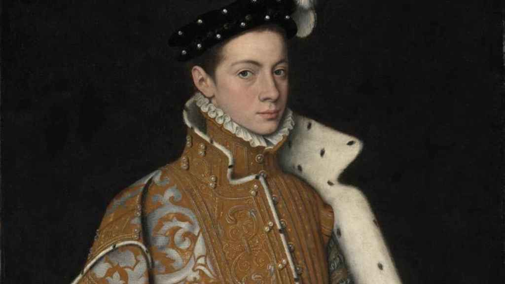 Retrato de un joven Alejandro Franesio, pintado por Sofonisba Anguissola.